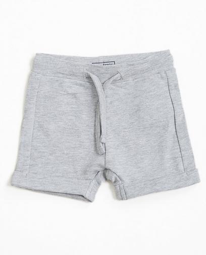 Short molletonné gris clair